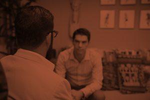 man in individual addiction treatment