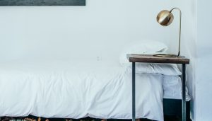single bed at luxury residential PHP rehab in Los Angeles
