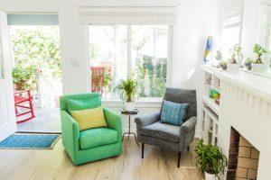 luxury sober living suite