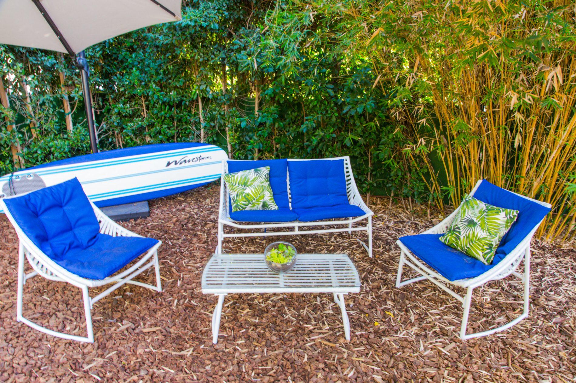 outdoor sitting area luxury sober apartment